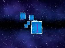星空中三维立体视频相册会声会影模板