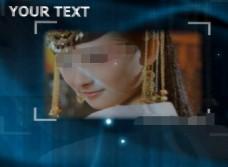 仿ae效果美丽光斑下的视频相册会声会影模板