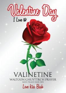 红色玫瑰花情人节元素