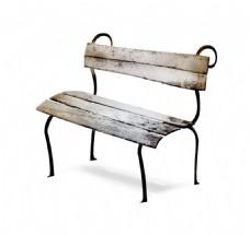 木板休闲座椅元素