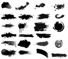 手绘中国水墨画元素