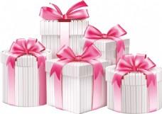 浪漫条纹礼盒元素