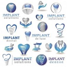 手绘牙齿医院蓝色健康宣传海报背景