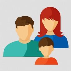 家庭用户头像矢量素材