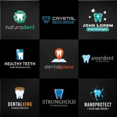 保护牙齿矢量图标元素