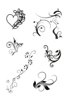 花纹线稿设计图