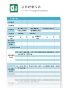 项目评审报告excel模板