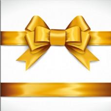 金色丝带蝴蝶蝶矢量素材