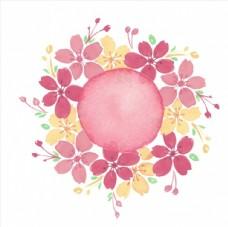手绘花卉 彩色花卉