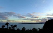 新西兰海滨暮色