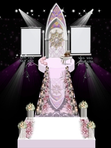 简约粉系婚礼效果图