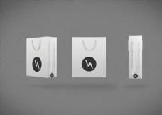 黑白简约手提袋PS设计