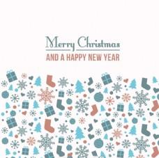 圣诞节和新年背景