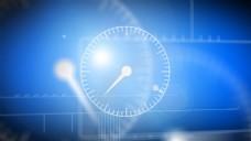 时钟蓝色光线视频ae模版