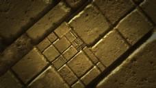 在黄色砖块中不断下降模板