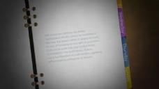 翻页的浪漫笔记本记载回忆的效果模版