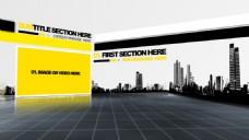 城市建筑剪影视频ae模版