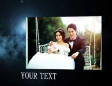 云端上的婚庆照片展示会声会影模板