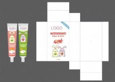 儿童牙膏包装设计