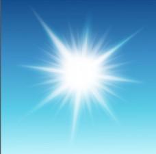 蓝色闪耀放射光效光斑背景