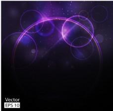 梦幻紫色抽象光斑背景矢量素材
