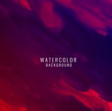紫红色水彩渐变抽象背景矢量素材