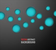 蓝色渐变分子结构线条背景