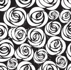 无缝玫瑰花纹时尚底纹背景