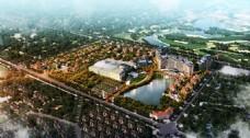 地产项目鸟瞰图