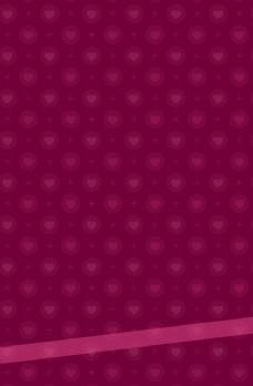 红色小心形时尚海报背景图