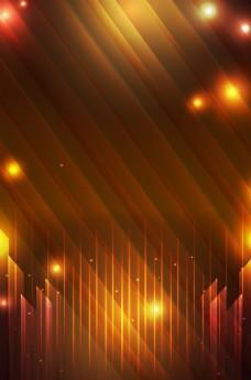 金色浪漫夜空海报背景图