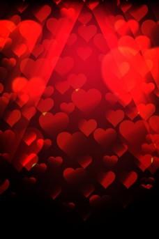 红黑色心形时尚海报背景图