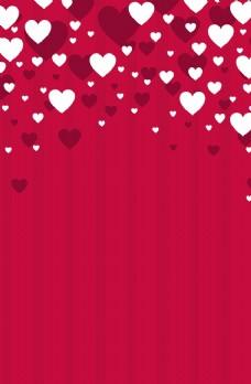 红白心形时尚海报背景图