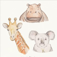 卡通可爱矢量长颈鹿