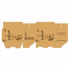 土鸡蛋散养鸡蛋包装盒矢量文件