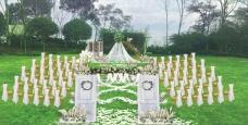 芦苇篷草坪婚礼
