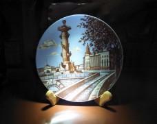 陶瓷画盘画