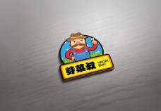 芽菜叔卡通LOGO