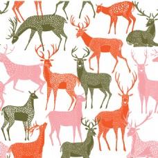 文艺小鹿可爱动物图案矢量素材
