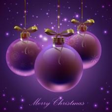 紫色圣诞背景素材