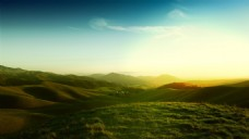 大气日出远方风景背景