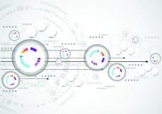 高科技技术齿轮组合背景矢量图