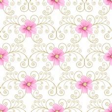 粉色小花蕾丝矢量背景