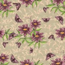 紫色小花背景矢量素材