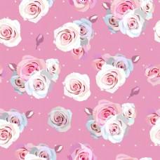 粉色花束纹理图案矢量背景