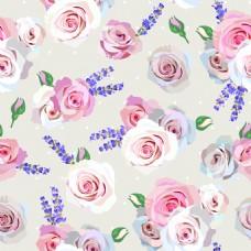 粉色玫瑰花纹理图案矢量背景