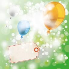 梦幻气球节日气球海报背景矢量素材