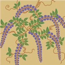 紫色分枝花朵背景图