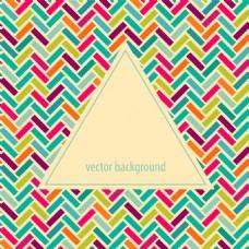彩色三角形时尚几何背景矢量