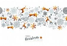金色圣诞节新年装饰背景矢量素材